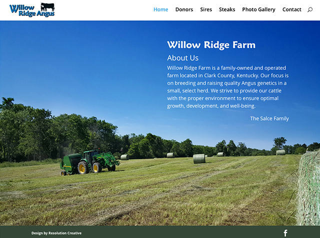 Willow Ridge Angus Website