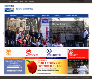 new website for Batavia United Way, designed by Resolution Creative