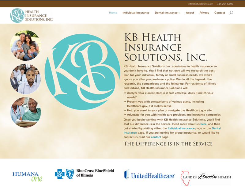 KB Health Insurance Solutions website