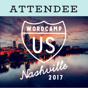 WordCamp US 2017 WordPress Conference attendee badge